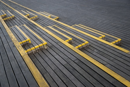 Wooden staircase with yellow paint Stock Photo - 8993249