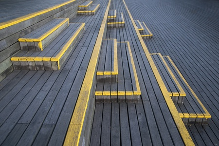 Wooden staircase with yellow paint Stock Photo - 8993248