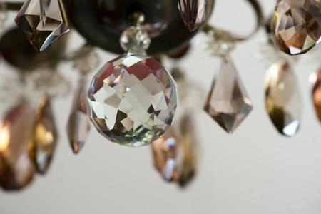 crystal chandelier: detail of vintage crystal lamp