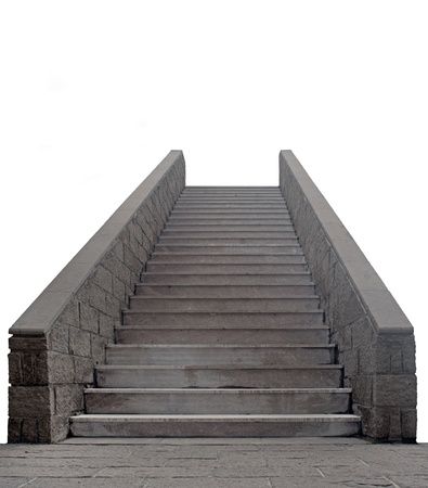 stone steps: stone staircase isolated on white