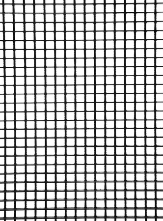 construction mesh: metal grid with bars isolated on white Stock Photo