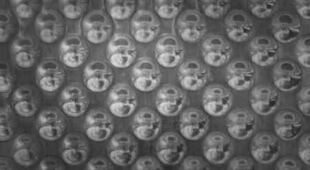 regular: Metal background astratto con regolare andamento circolare Archivio Fotografico