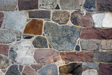 Wall of naural granite rock in different colors Stock Photo - 10903391