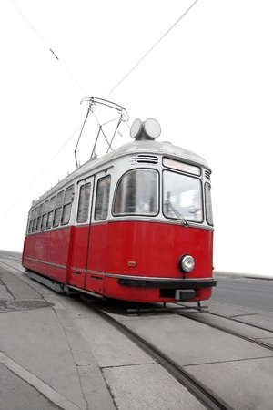 trams: Vintage tram in Vienna, Austria