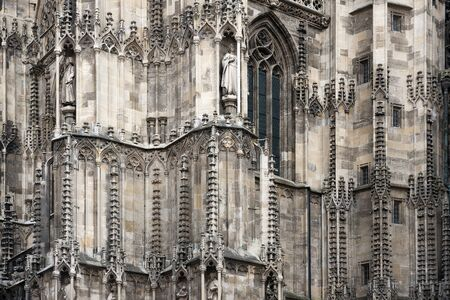 Exterior detail from Stephansdom cathedral - Vienna, Austria. photo