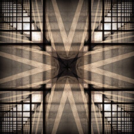 regular: Abstract brown background with regular symmetrical pattern