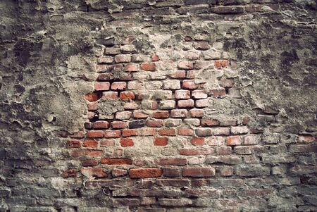 background of brick wall with vintage look photo