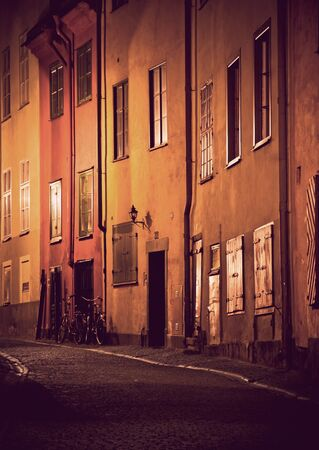Evening scene from Gamla Stan, the Old Town of Stockholm photo