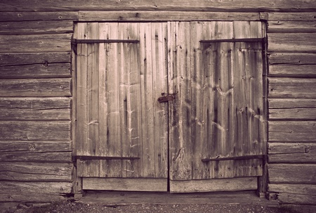 Old wooden door with vintage look photo