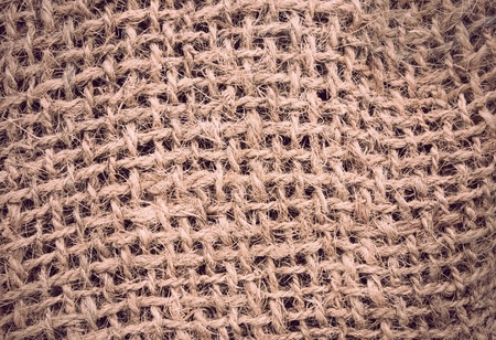 Rough sack or canvas texture in sepia photo