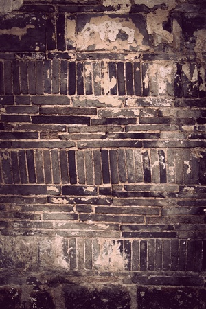 Close up of black grungy brick wall Stock Photo - 11888488