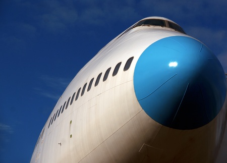 jumbo: Low angle view of jumbo jet ready for takeoff