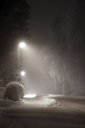 streetlight: street light in suburban area at night