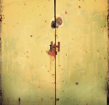 Background of rusty metal door photo