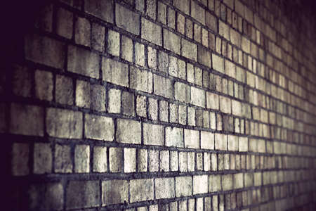 diminishing perspective: grunge brick wall with diminishing perspective Stock Photo
