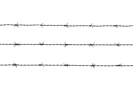 barbed wire isolated: barbed wire isolated on white