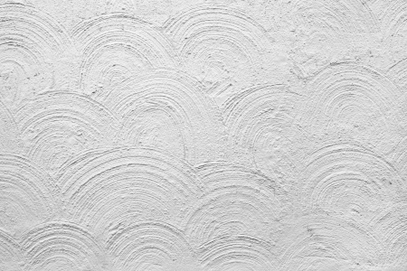 plastered: Background of plastered white wall with circular pattern Stock Photo