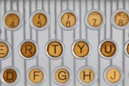 Close up of keys of vintage typewriter photo