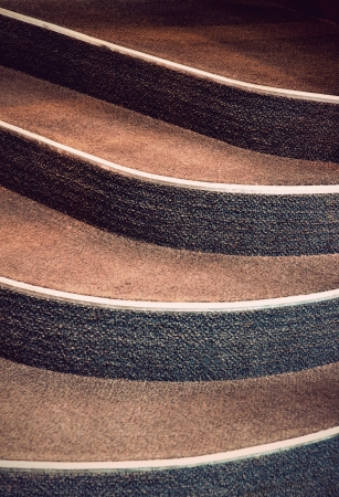 Close up of steps in vintage staircase with carpet Stock Photo - 17029760