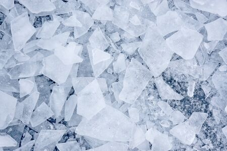 Background with shattered ice on lake in shades of blue Stock Photo - 17752249