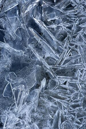 Background with pattern in ice on lake Stock Photo - 17752233
