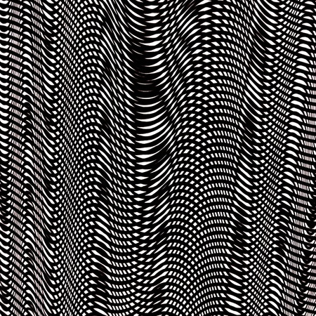 background with psychedelic pattern in black and white photo
