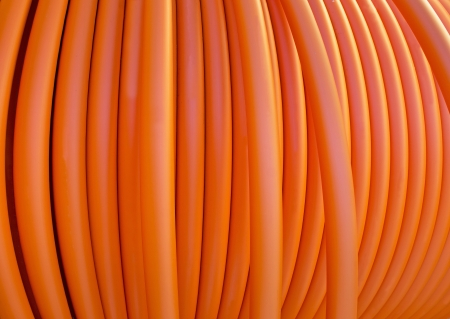 fiberoptic: Close up of orange cable