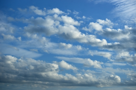 background with blue sky and fluffy clouds Stock Photo - 20912221