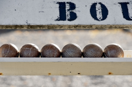 bocce ball: Close up of balls used for playing boule