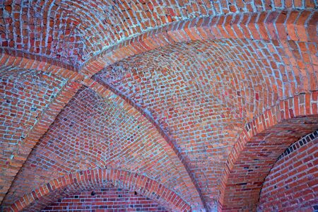 vaulted ceiling: vaulted ceiling made of old red bricks