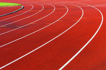 athletics track: Curve of running tracks in athletics stadium