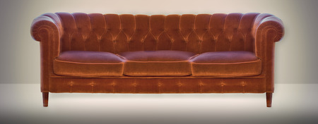 settee: settee in old fashioned style on neutral background Stock Photo