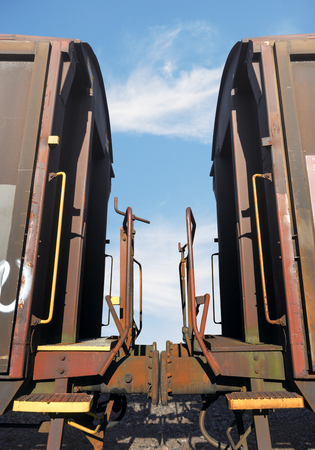 buffers: bumpers of two train carriages