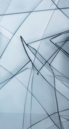 shattered: abstract background with shattered transparent glass Stock Photo