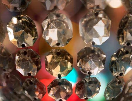 vintage chandelier: Close up of prism of vintage chandelier Stock Photo