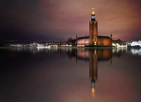 nobel: Stockholm City Hall  - venue for the Nobel Prize ceremony