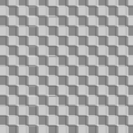 3d design pattern with cubes that give a slightly blurred impression