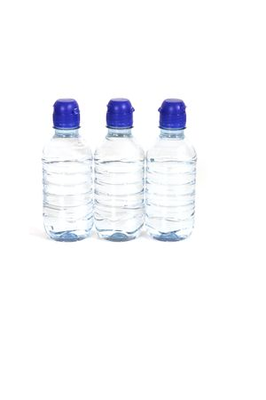Row of bottles of water photo
