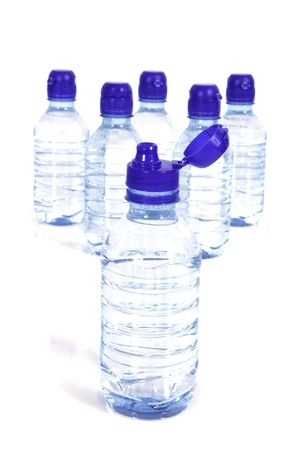 Bottles of water photo