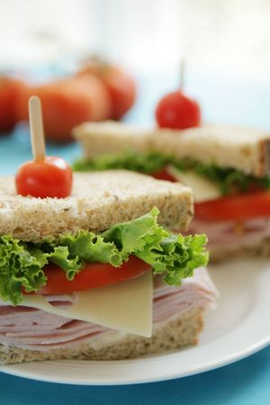 Ham sandwiches photo