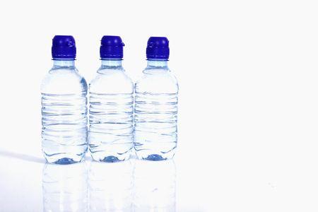 three bottle of water photo