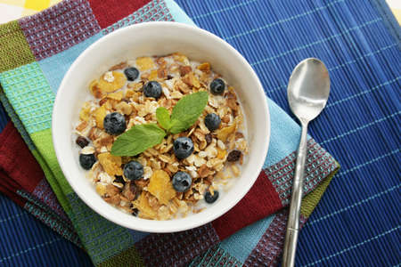 cereals with blueberries photo