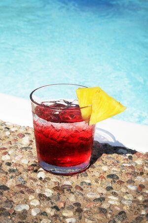 thirsting: red juice Stock Photo