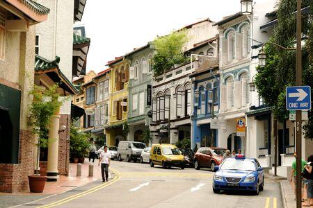 SINGAPOUR - MAY31: Détail d'une rue dans le Chinatown à SINGAPOUR, en Indonésie. Chinatown à SINGAPOUR est un endroit idéal pour négocier et commerces Banque d'images - 7148425