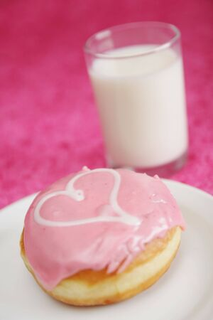 donut with heart photo