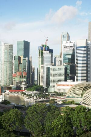 View of Skyline of Singapor city in Indonesia photo