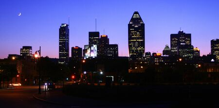 Skyline of Montreal city by a nice summer night photo