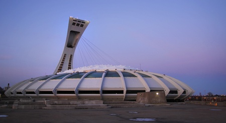Olympic stadium in Montreal, Canada built in 1976 for summer Olympic and is currently the largest in Canada with is 1 million square meter.