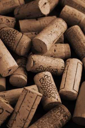Close up of several wine corks as a background photo