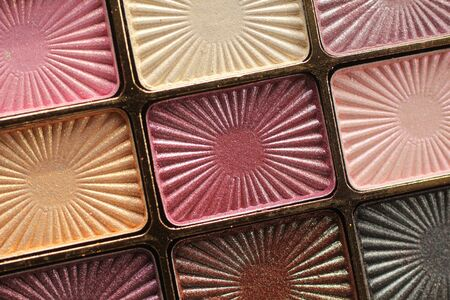 Close up of a make-up eyeshadow palettes  Stock Photo